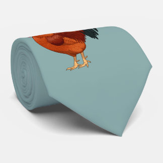 Rhode Island Red Rooster Crowing Tie