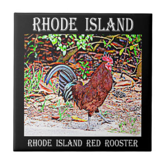 Rhode Island Red Rooster Tile