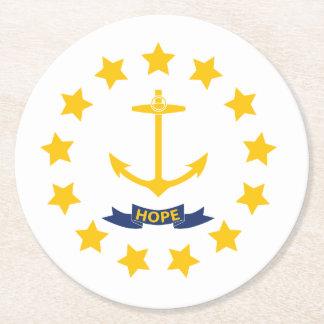 Rhode Island Round Paper Coaster