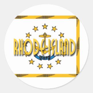 Rhode Island Round Sticker