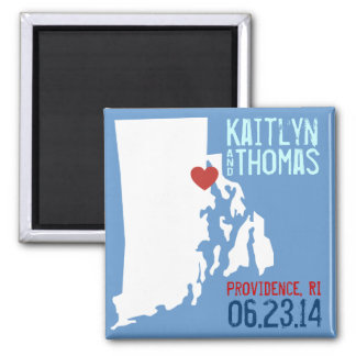 Rhode Island Save the Date - Customizable City Magnet