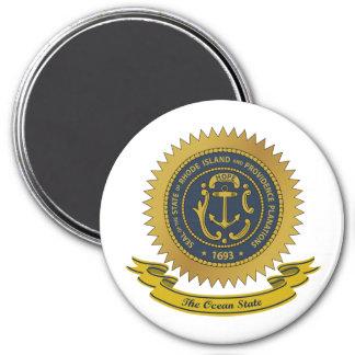 Rhode Island Seal 3 Inch Round Magnet
