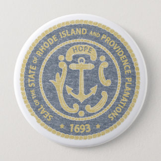 Rhode Island Seal 4 Inch Round Button