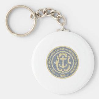 Rhode Island Seal Basic Round Button Keychain