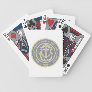 Rhode Island Seal Bicycle Playing Cards