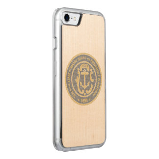 Rhode Island Seal Carved iPhone 8/7 Case