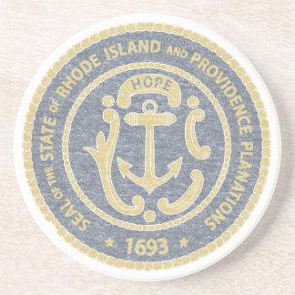 Rhode Island Seal Coaster