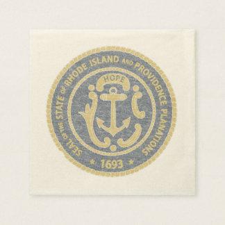 Rhode Island Seal Disposable Napkin