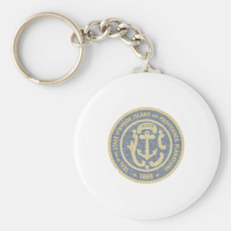 Rhode Island Seal Keychain