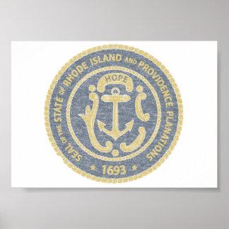 Rhode Island Seal Poster