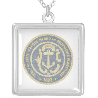 Rhode Island Seal Silver Plated Necklace