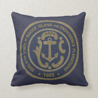 Rhode Island Seal Throw Pillow