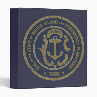 Rhode Island Seal Vinyl Binders
