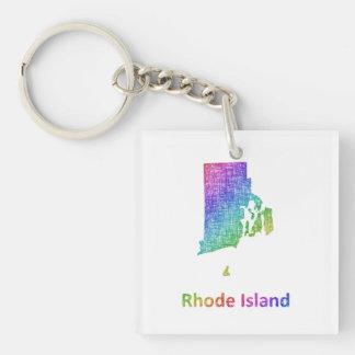 Rhode Island Single-Sided Square Acrylic Keychain