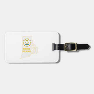 Rhode Island State Flag and Map Luggage Tag