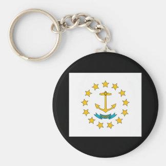 Rhode Island State Flag Keychain