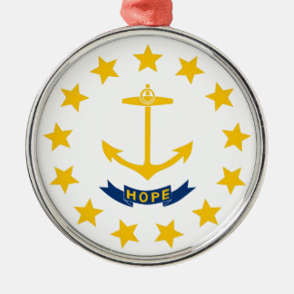 Rhode Island State Flag Metal Ornament