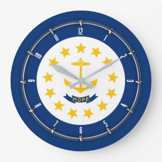 Rhode Island State Flag on a Large Clock