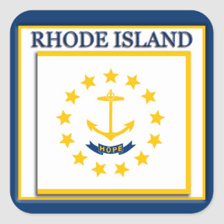 Rhode Island State Flag Sticker