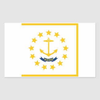 Rhode Island State Flag Sticker - 4 per sheet