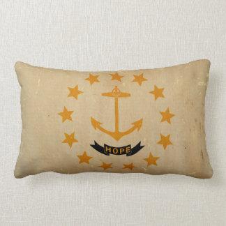 Rhode Island State Flag VINTAGE Lumbar Pillow