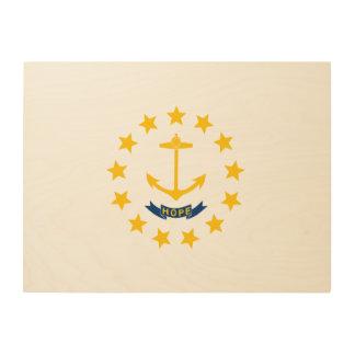 Rhode Island State Flag Wood Print