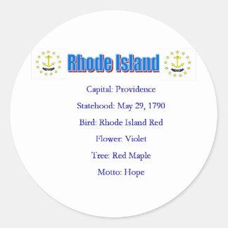 Rhode Island State Info Sticker