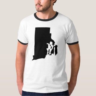 Rhode Island State Outline T-Shirt