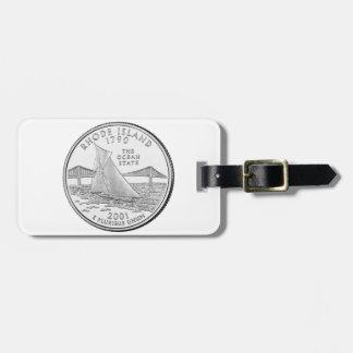 Rhode Island State Quarter Luggage Tag