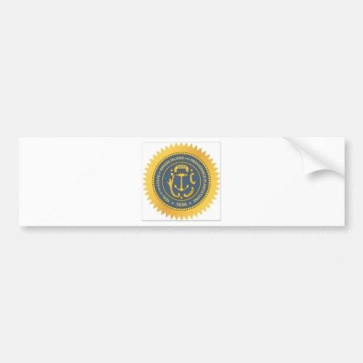 Rhode Island State Seal Bumper Stickers
