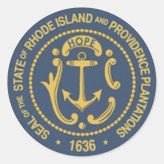 Rhode Island State Seal Round Sticker