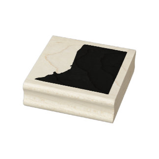 Rhode Island State Solid Rubber Art Stamp