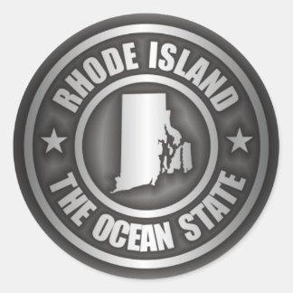 Rhode Island Steel Round Sticker