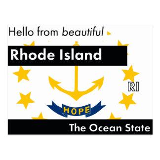 Rhode Island The Ocean State Postcard