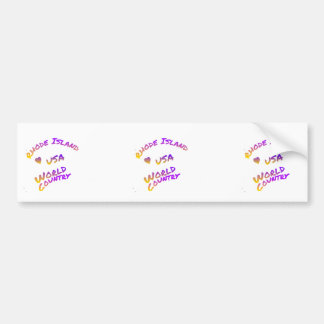 Rhode Island usa world country,  colorful text art Bumper Sticker
