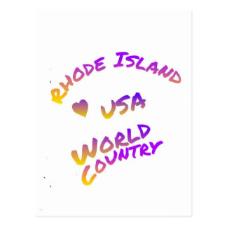 Rhode Island usa world country,  colorful text art Postcard
