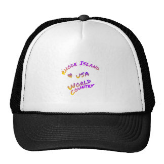 Rhode Island usa world country,  colorful text art Trucker Hat