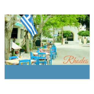 Rhodes, old village tavern Postcard