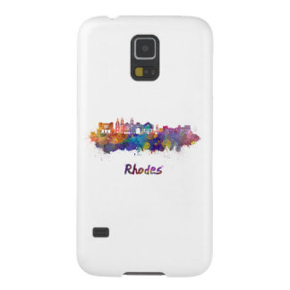 Rhodes skyline in watercolor cases for galaxy s5