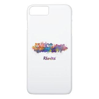 Rhodes skyline in watercolor iPhone 8 plus/7 plus case