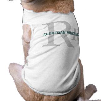 Rhodesian Ridgeback Breed Monogram Doggie T Shirt
