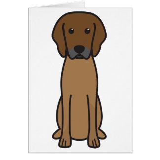 Rhodesian Ridgeback Dog Cartoon Card