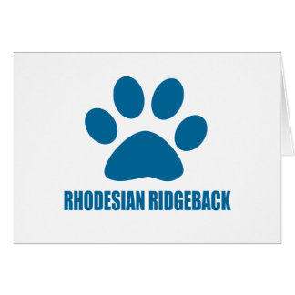 RHODESIAN RIDGEBACK DOG DESIGNS CARD