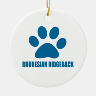 RHODESIAN RIDGEBACK DOG DESIGNS CERAMIC ORNAMENT