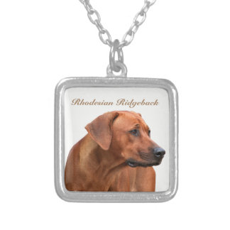 Rhodesian Ridgeback hanger Silver Plated Necklace