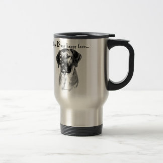 Rhodesian Ridgeback Happy Face Travel Mug