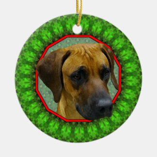 Rhodesian Ridgeback Happy Howliday Ceramic Ornament