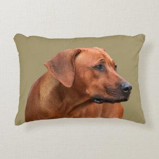 Rhodesian Ridgeback kiss Decorative Pillow