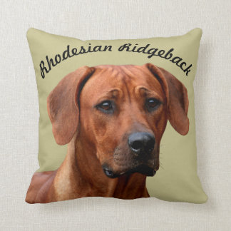 Rhodesian Ridgeback kiss Throw Pillow