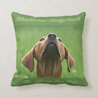 Rhodesian Ridgeback kissing Throw Pillow
